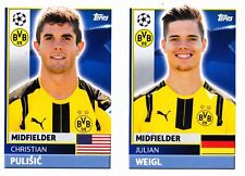 Topps Champions League 2016-2017  Christian Pulisic Rookie Sticker