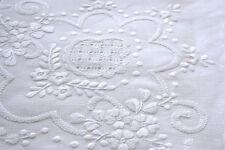lenzuola ricamate dis.4 matrimoniale (misto lino)
