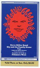 Mint Original 69 Steve Miller Band Fillmore West Concert Ticket Bg151 Thursday