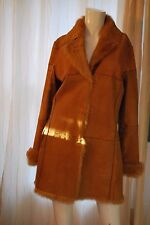 TRYST New York Tan Shearling Winter Coat Jacket Size L