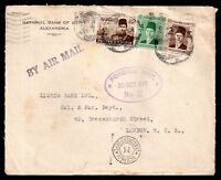 Egypt 1944 Airmail cover M Censorship Foreign Mail cachet to London WS9573