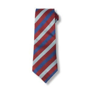 Mens Classic Stripe Silk Tie in Navy, Blue and Red SSAFA Formal