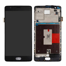 OnePlus 3 Three A3000 A3003 LCD Display Touch Screen Digitizer + Frame - Black