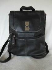 Tignanello Backpack Black Pebbled Leather Purse Bag Adjustable Straps Nice Cond!