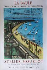 """Bernard BUFFET : """"La plage de la Baule"""" LITHOGRAPHIE SIGNEE MOURLOT 56x90cm 1979"""