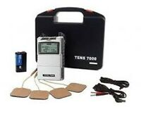 NEW TENS 7000 2nd Most Powerful unit (OTC) + 12 Electrodes 2 x 2 inch