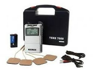 NEW TENS 7000 2nd Most Powerful unit (OTC) + 8 Electrodes 2 x 2 inch