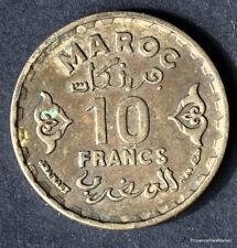 MAROC MOROCCO 10 FRANCS  BRONZE EMPIRE CHERIFIEN      1951   mo38