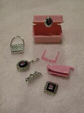Barbie Doll Size Diorama CABOODLE Case Filled with Accessories Purse, Comb, Etc