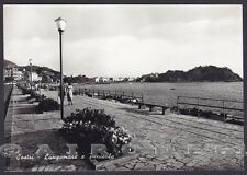 GENOVA SESTRI LEVANTE 116 Cartolina FOTOGRAFICA viaggiata 1956