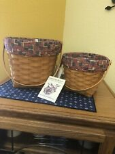 """longaberger measuring baskets  7"""" @ 9""""/ Old glory Liners @ Protectors"""