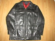 Tommy Hilfiger Black Leather Coat - Men's XL