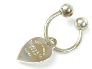 TIFFANY&Co.  Return to TIFFANY & Co. HeartTag KeyRing Silver925 Women 11154 good