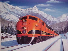 "C2008 Railroad Art,Winfield,/""SP-SD-45X in Verdi Canyon/"" 12X24/""signed 7311"