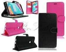 For OnePlus 5T New Genuine Black Pink Leather Flip Wallet Phone Case Cover