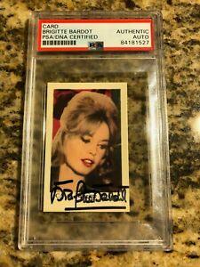 BRIGITTE BARDOT SIGNED VINTAGE PHOTO TRADING CARD AUTO ACTRESS MODEL PSA/DNA
