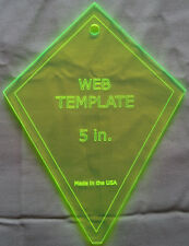 """5""""  Web Periwinkle Quilting Template for Charm Packs brand new ready to ship"""