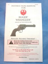 Ruger Wrangler Owner's Instruction Safety Manual Dated 2020 - new!