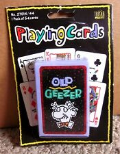 OLD GEEZER playing cards Trisar pop-art humor NWT bridge size Jolly Joker gag