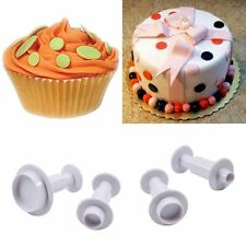 Biscuit Sugar Plunger Cookie Cake Cutter Mold Fondant Craft Decor Round Circle