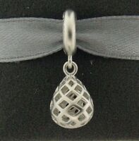 New Endless Holiday Night Drop Rhodium Plated Sterling Silver Charm 43550