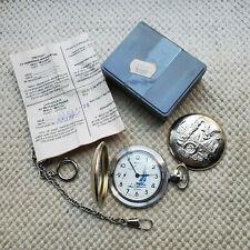 MOLNIJA Sail boat SHIP Molniya Case Pocket Watch USSR 18 Jewels Russia Boat