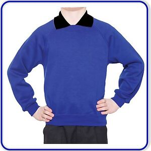 "New Good Quality Sweatshirts Boys Girls Plain School Jumpers 22""-34"" 0400"