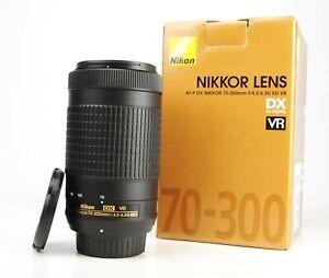 Nikon AF-P 70-300mm F4.5-6.3 G VR ED Telephoto Zoom Lens  Boxed + F/R Caps - EXC