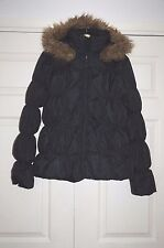 ❄️ New 14 Warehouse Feather & Down Filled Winter Jacket Coat Faux Fur Hood