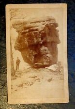 old cabinet photograph view giant boulder Colorado