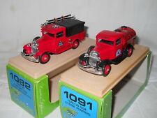 Ford V8 1934 pompier Los Angeles + Trenton fire Dept - ELIGOR 1/43 2 modeles