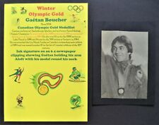 BOUCHER GAETEN CANADA WINTER OLYMPIC GOLD MEDAL 1984 SIGNED PICTURE