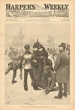 An Adept In The Art Of Ice Skating, Winter, Sport, Vintage 1888 Antique Print