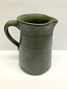 NC Salt Glaze Stamped Choctaw Indian Pottery Marion Va. Stoneware Jug Pitcher