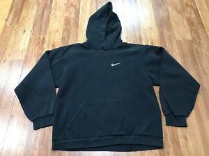 BOYS XL - Vtg 90s Nike Hooded Sweatshirt Hoodie Made USA