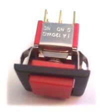 1 x Bouton Poussoir momentané DPDT SALECOM T80P carré Rouge P2702-F22A-3-BR-EH.