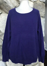 NEW Apt 9 Women's Purple 100% Cashmere Scoop Neck Long Sleeve Sweater Size L