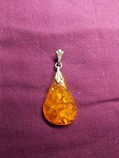 Pendente ambra argento 835, silver amber pendant