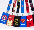 10 pcs avengers Lanyard Card ID Holder With Hanging String Keychain