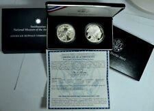 2001 P/D Am. Buffalo Commem. Silver Dollar 2 Coin Set UNC&Proof in Box w/COA