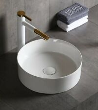 WHITE GLOSS CERAMIC BASIN |MODERN CONTEMPORARY ABOVE COUNTER (BACK ORDER)