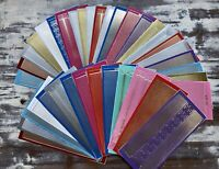 *BARGAIN* 20 Sheets of PEEL OFFS Stickers - BORDERS Mixed Colours (Lucky Dip)