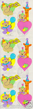 Sandylion Pastel Hearts Bears & Giraffe Scrapbooking Stickers *FAST SHIP* G143