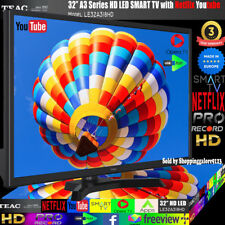 "TEAC 32"" Inch HD SMART TV Netflix Youtube WIFI PVR APPS Opera  Made Europe 3Yr"