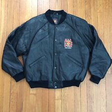 Official ALL STAR CAFE Black Leather Jacket Size Large Planet Hollywood