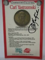 Carl Yastrzemski Boston Red Sox Autographed Cooperstown Commemorative Coin