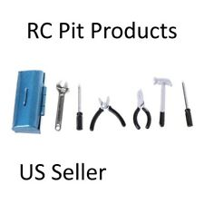 RC 1/10  Scale Truck  Accessories Blue Metal TOOL BOX  w/ TOOLS  US Seller
