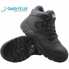 MENS BLACK DICKIES LIGHTWEIGHT STEEL TOE CAP WORK BOOTS SAFETY SHOES TRAINERS SZ