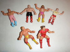 Vintage 1985 WWF LJN Thumb Wrestler Bend em Lot of 6 Hulk Hogan More Bendies JYD