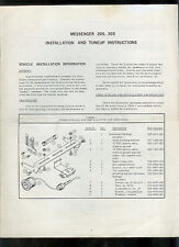 Orig Factory EF Johnson Messenger 205 303 2-Way Radio Tune Up Instruction Manual